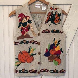 Vintage fall sweater vest